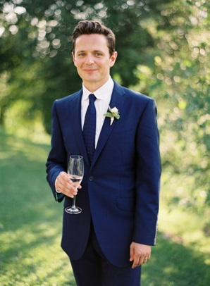 Groom Navy Suit