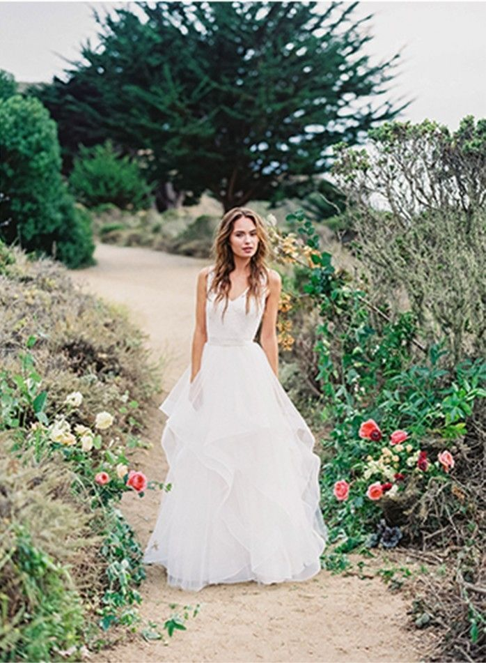 8-modern-ruffled-wedding-gown