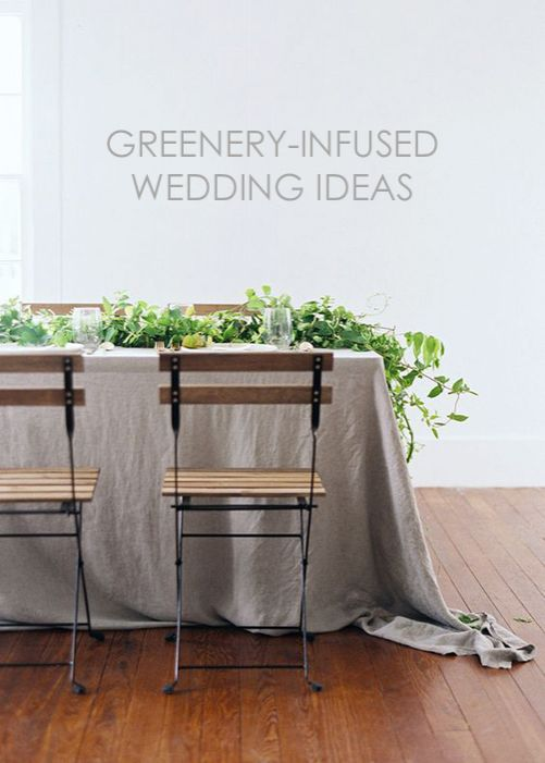 Greenery-Infused Wedding Ideas