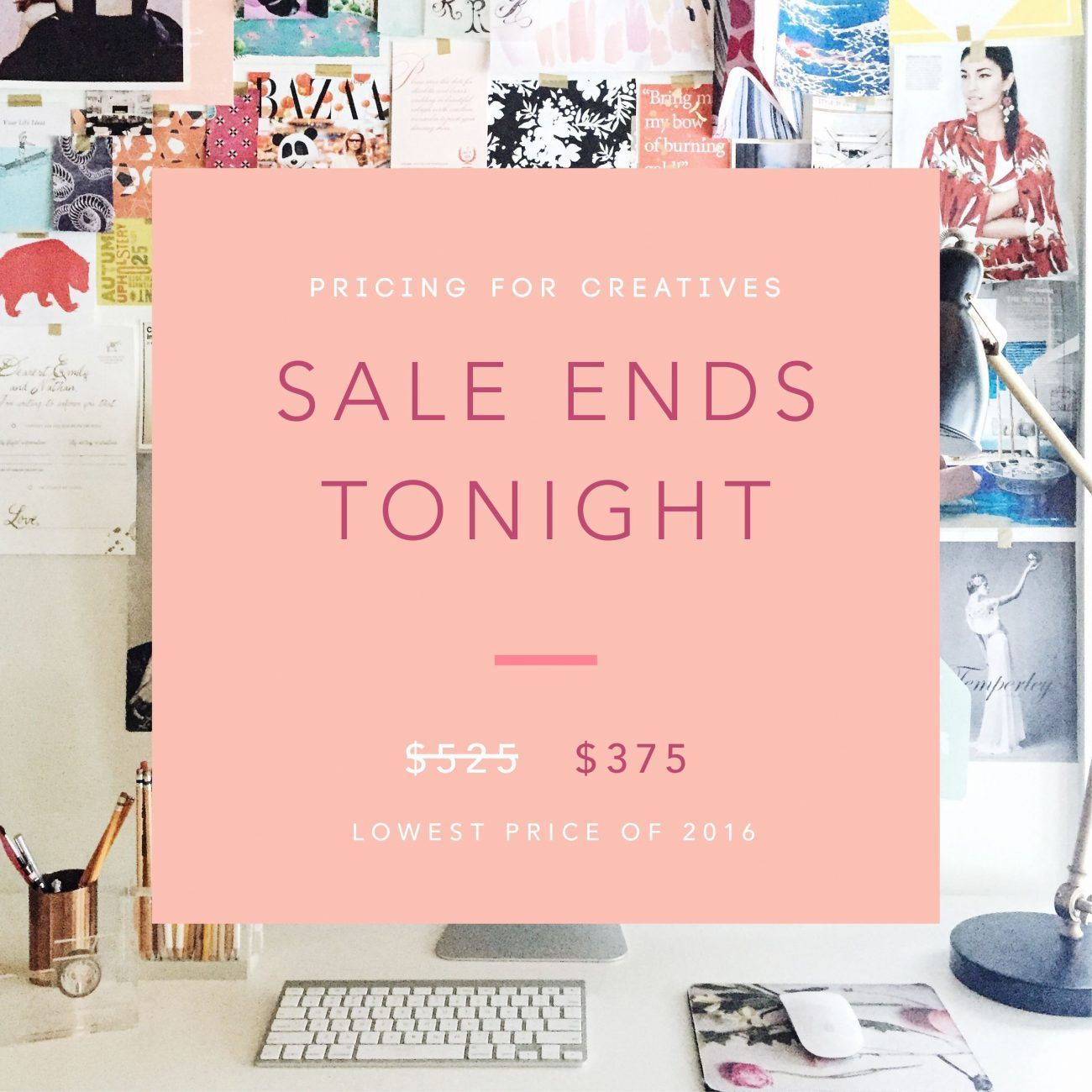 FINAL DAY: Lowest price of 2016 for Pricing For Creatives