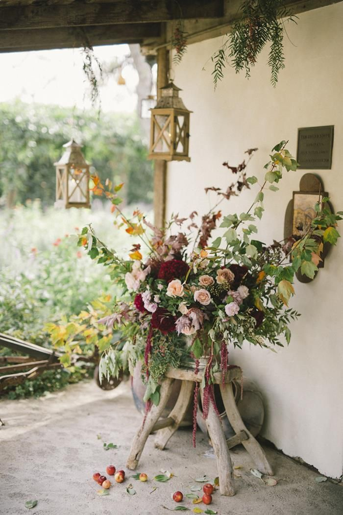 rustic outdoor wedding decorations intimate fall wedding in california once wed 7201