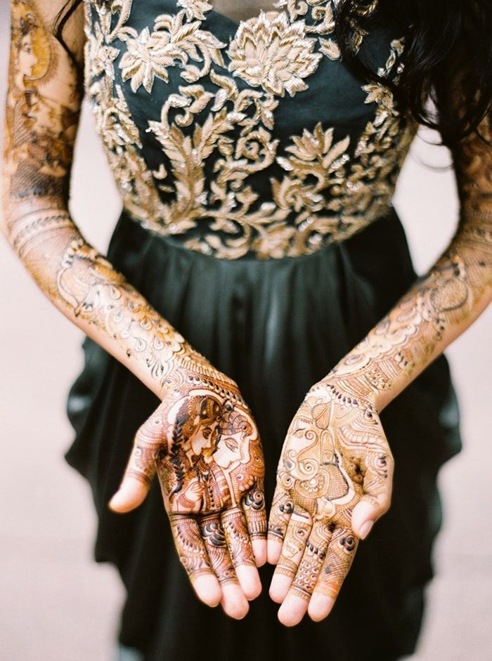 Traditional Indian Wedding Mehndi Once Wed