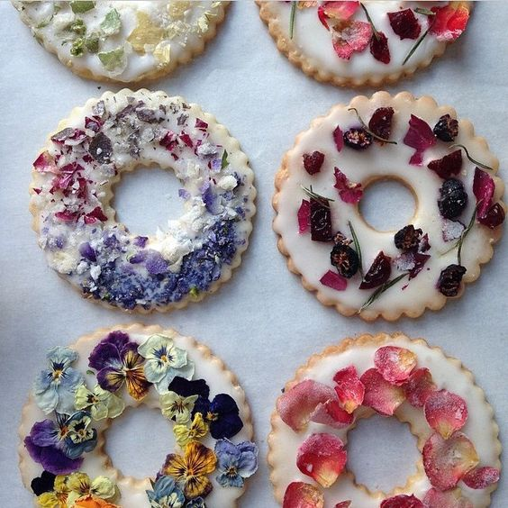 Beautiful, understated, and delicious, these edible flower shortbread cookies would be perfect for a spring or summer affair. With so many different  cookie cutter  options, you can easily create a dessert that is custom to your day. These pair perfectly with a delicious cup of coffee or tea.
