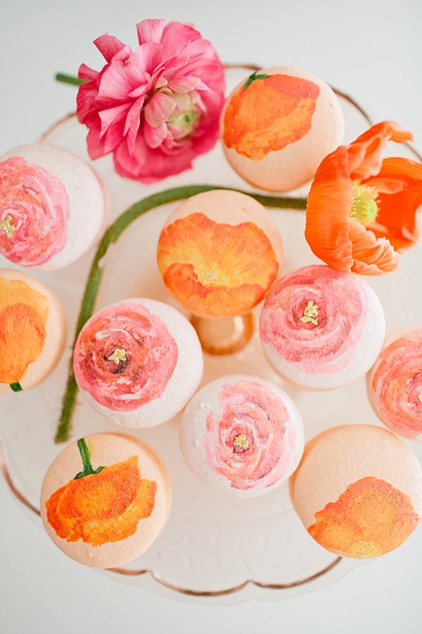 Colorful Flower Macarons