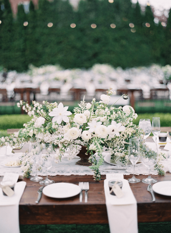 Elegant outdoor garden wedding in utah once wed