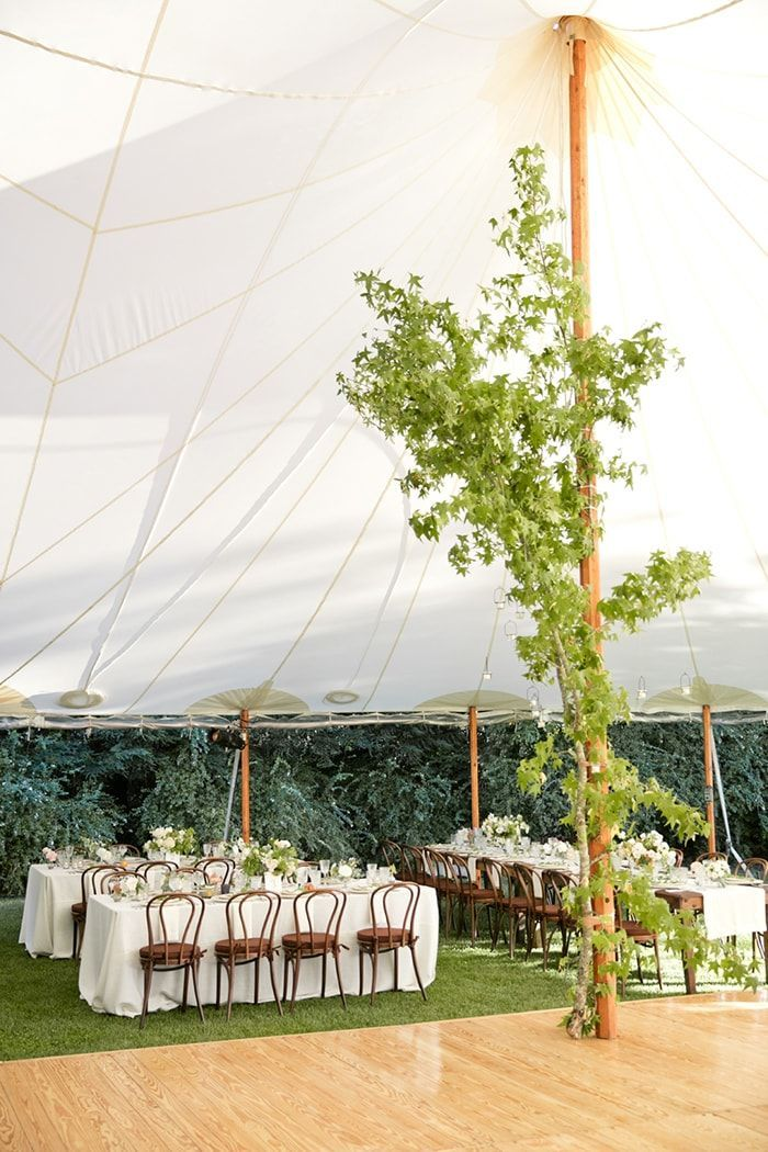 11-tented-reception-greenery-centerpiece