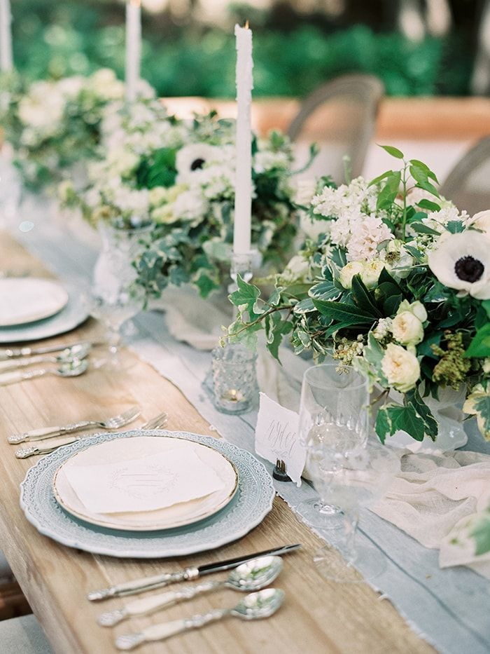 Elegant Blue And White Wedding Inspiration Once Wed