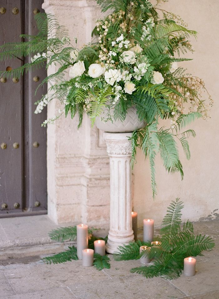 8-fern-white-flower-ceremony-arrangement