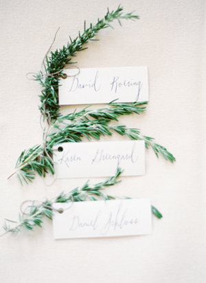 Rosemary Wedding Place Cards
