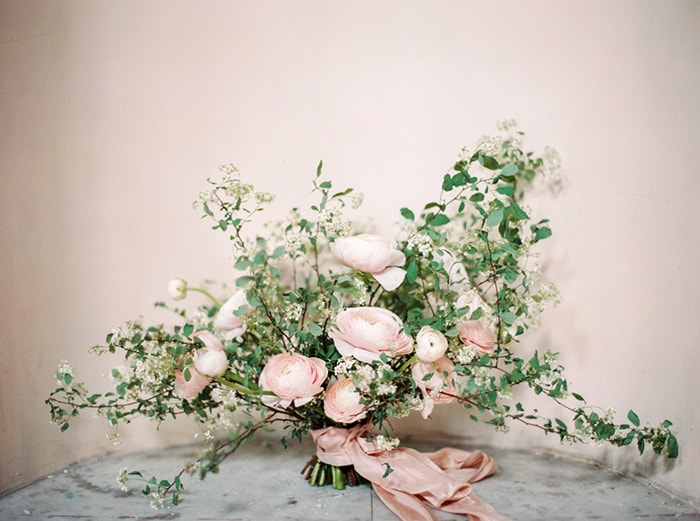 3-white-pink-greenery-bouquet-silk-ribbon