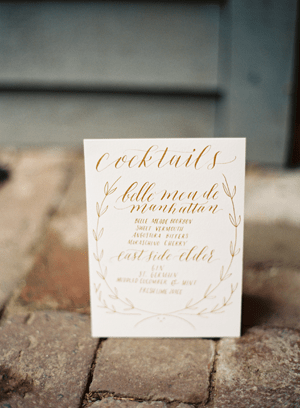 Wedding Calligraphy Cocktail Sign