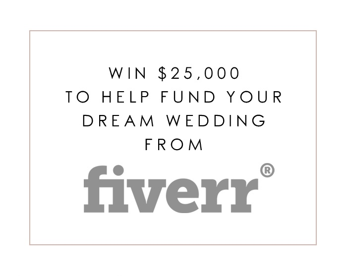 Win $25,000 For Your Dream Wedding from Fiverr