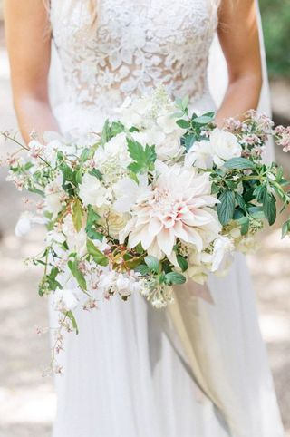 Lovely blush wedding bouquet