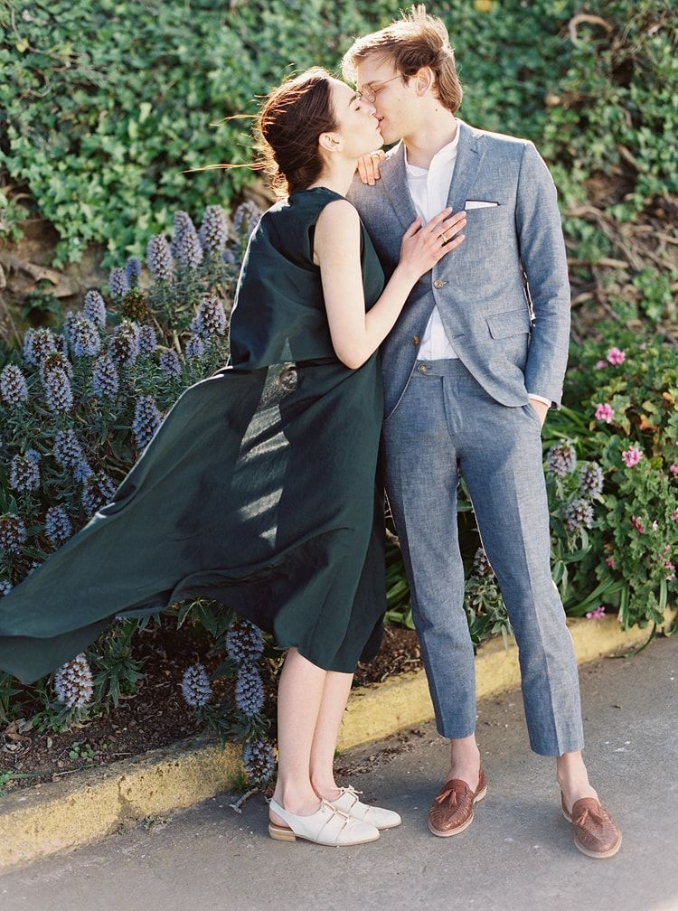 Modern Garden Wedding at Alcatraz Island