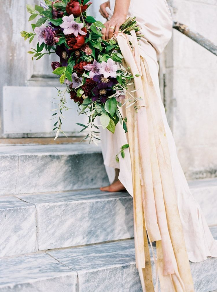 Enchanting Bridal Portraits with Jewel-Toned Bridal Bouquet