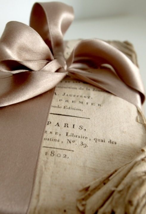 Antique-book-ribboned