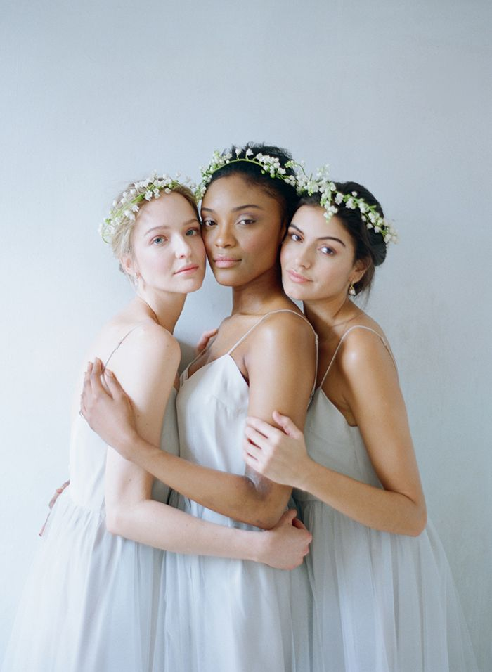 Ballet inspired bridesmaid dresses