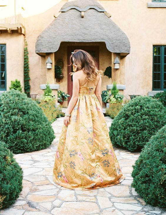 A stunning gold gown