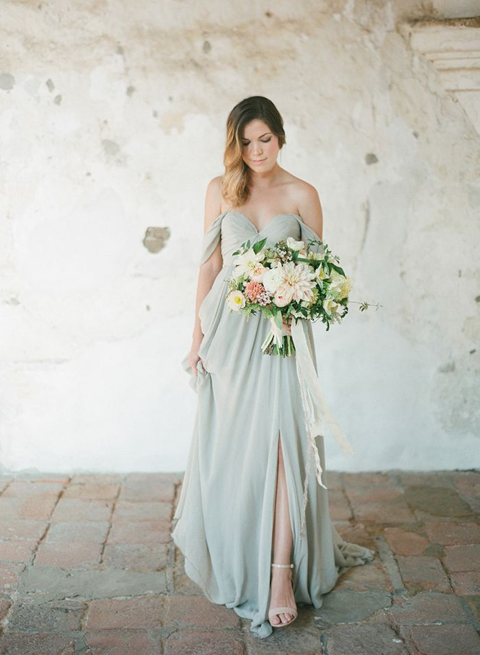 Pale green gown