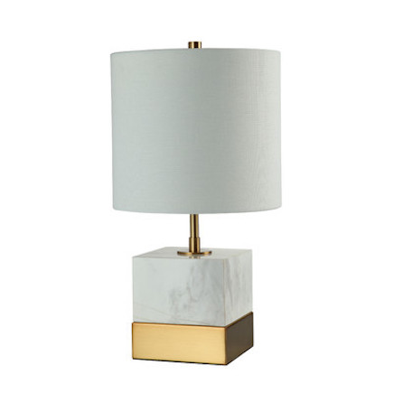 Rockport Marble and Brass Table Lamp