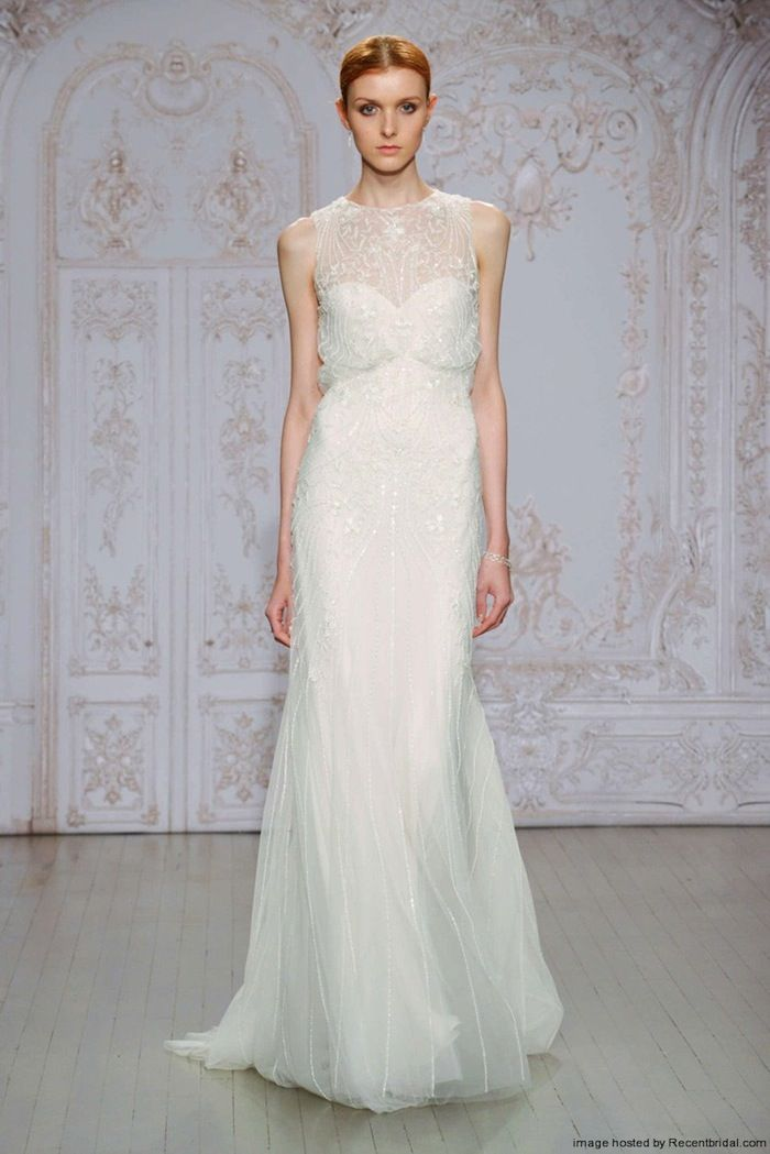 monique-lhuillier-fall-2015-sheath-wedding-dress-with-an-illusion-neckline