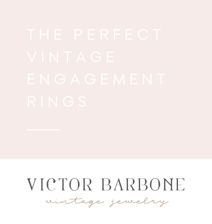Incredible Vintage Engagement Rings from Victor Barbone
