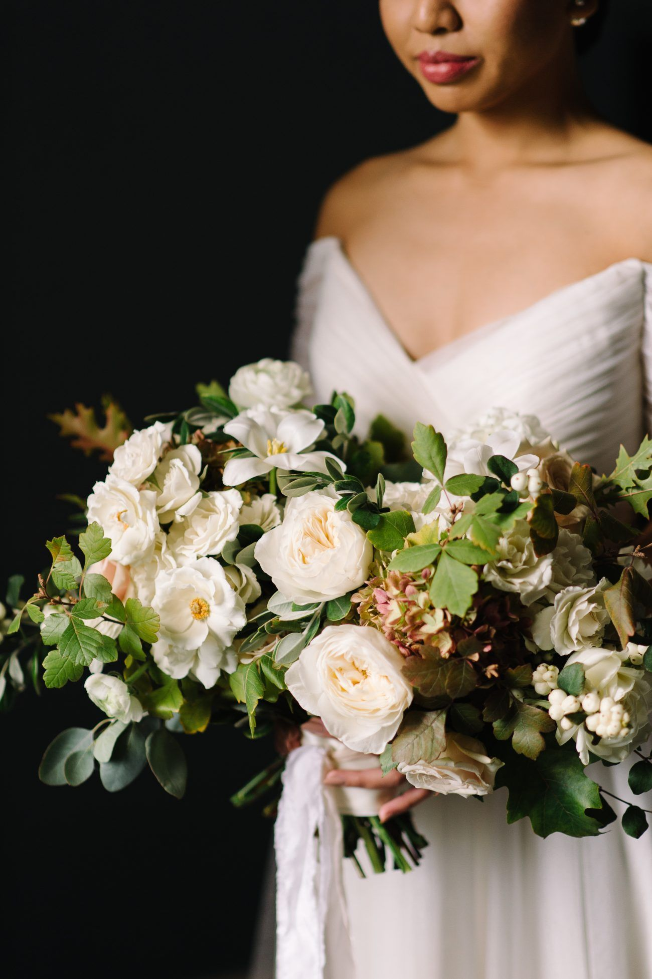 Neutral Fall Wedding With Lush Organic Flowers Once Wed