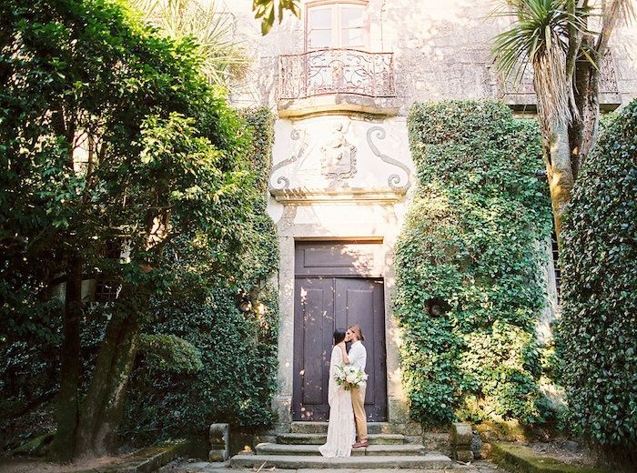 Simple European Wedding Ideas In A White And Green Palette Once Wed