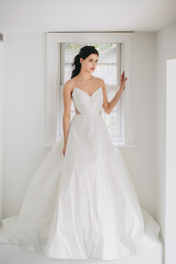 Chic, Minimalist Wedding Gowns || Louvienne + Lovely Bride