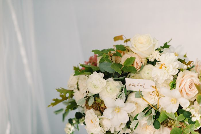 Neutral Fall Wedding with Lush, Organic Flowers