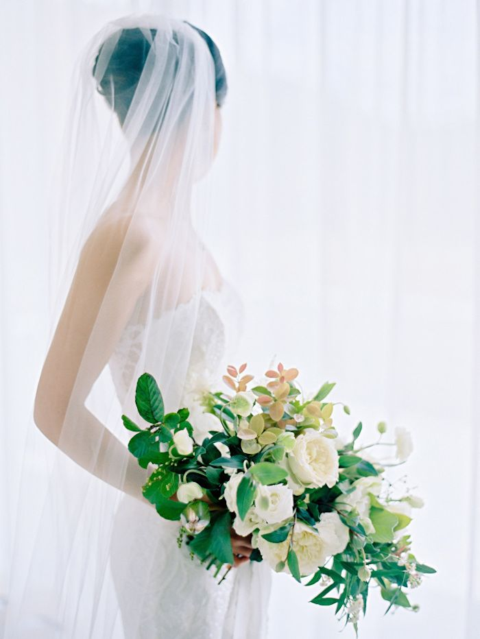 Destination Wedding in Thailand with Gorgeous White and Green Wedding Flower