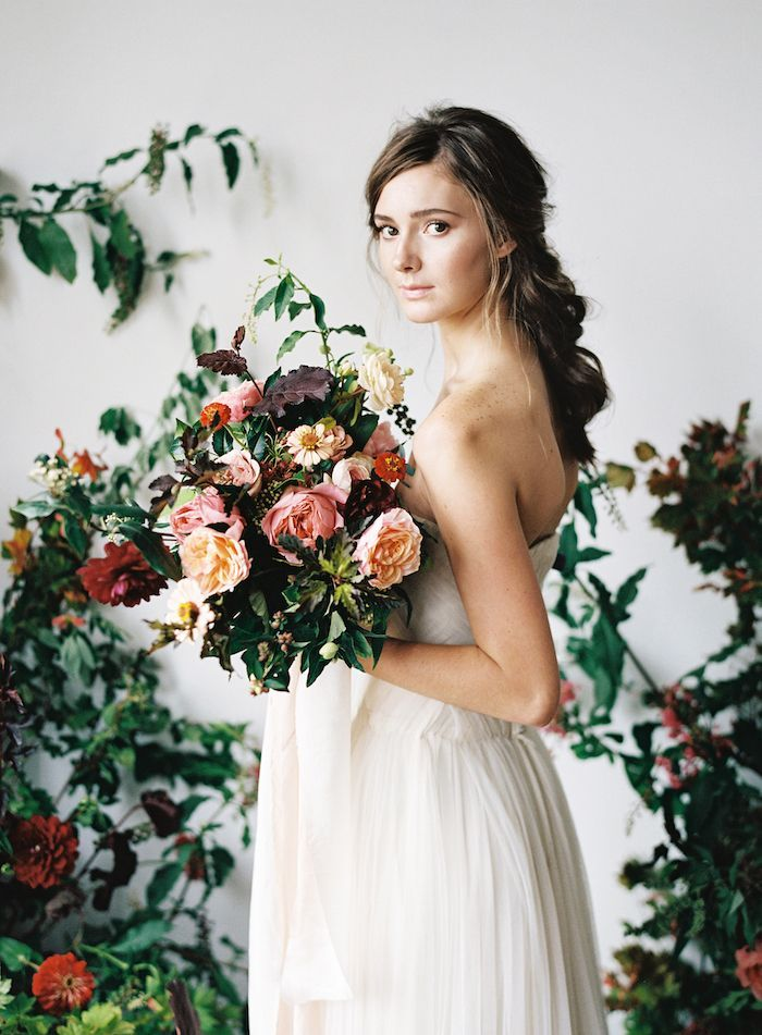 Warm Wedding Inspiration with Organic Floral Design
