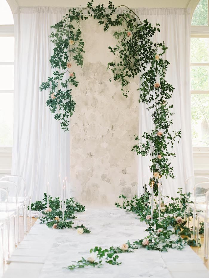 Elegant Garden-Inspired Indoor Wedding Ideas