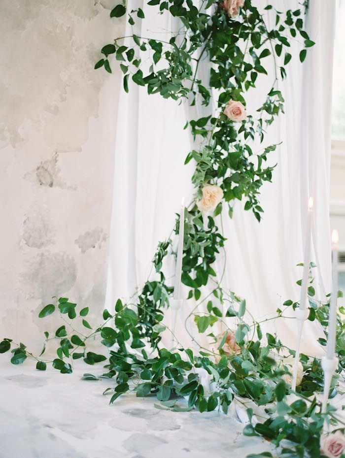 Elegant Garden Inspired Indoor Wedding Ideas Once Wed