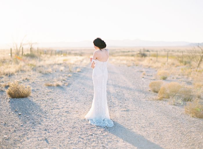 Desert Wedding Inspiration with a Sunset Palette