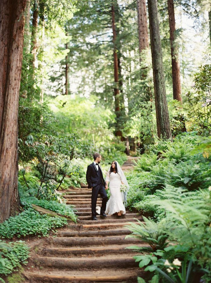 Peaceful Outdoor Wedding in White and Green
