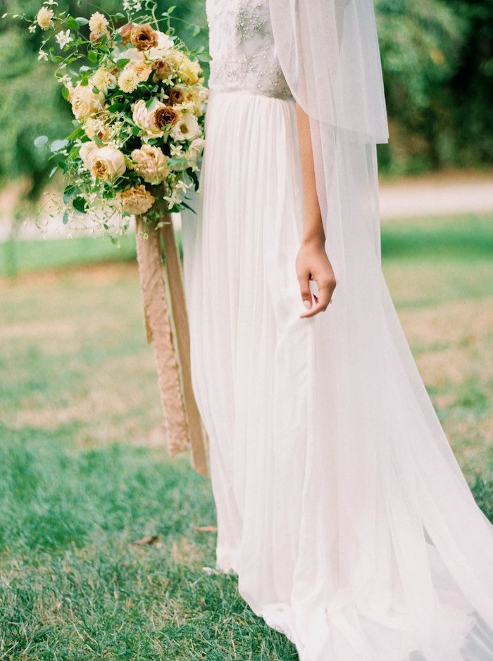Woodland Inspired Wedding with Airy, Organic Style