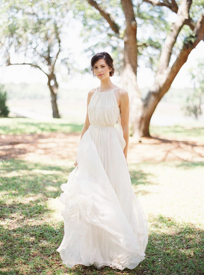 Peaceful Outdoor Wedding & Bridal Portraits