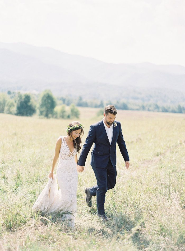 Mountains Provide Glorious Backdrop For An Intimate Wedding