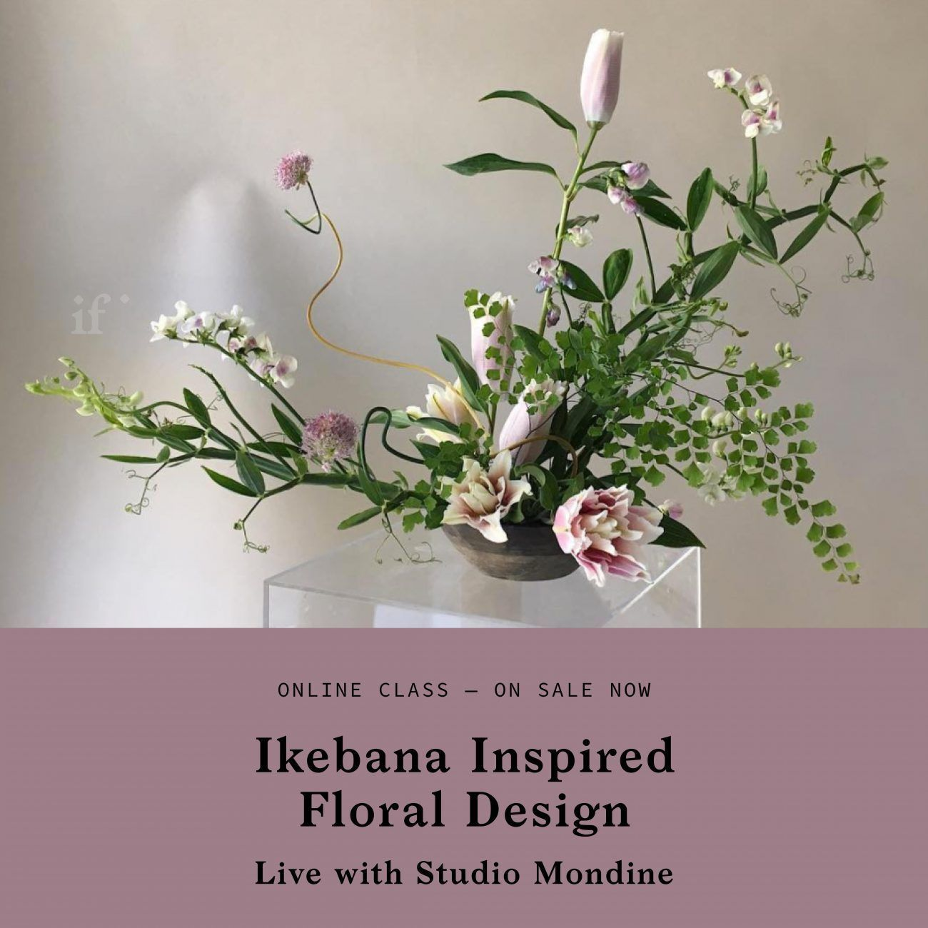 Ikebana Inspired Floral Design with Studio Mondine