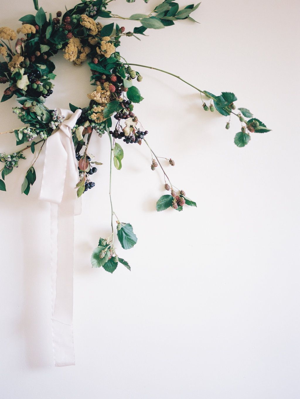 DIY For Beautiful Autumnal Berry Wreath