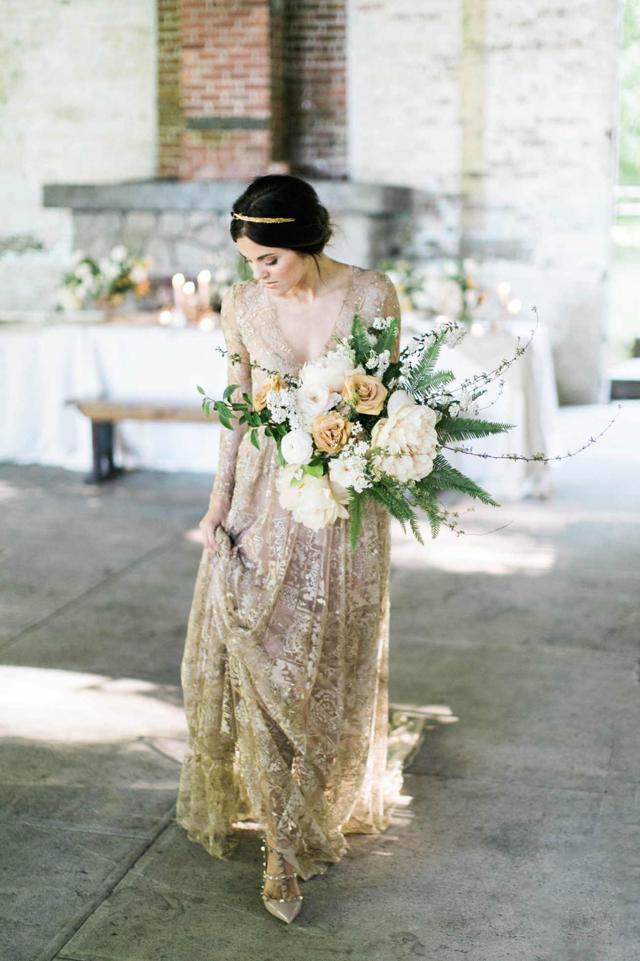 A gold and glorious wedding design once wed junglespirit Choice Image