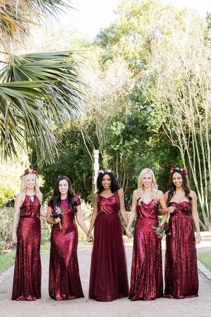 Introducing Berry and Purple Hued Bridesmaid Dresses From Revelry