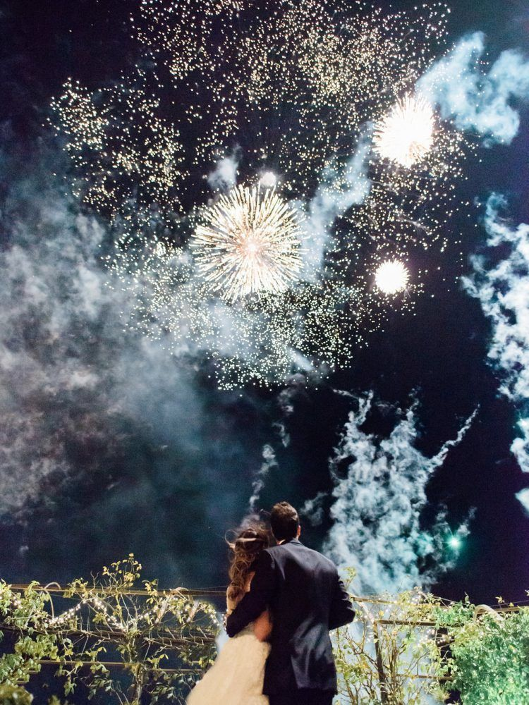 Gorgeous Real Wedding in Tuscany, Italy (Fireworks Included)