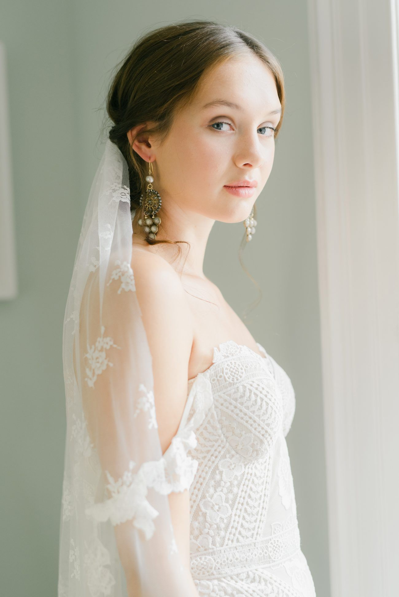French Blue Wedding Beauty From The UK