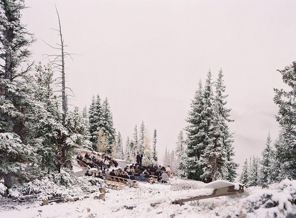 Intimate Mountaintop Wedding in a Winter Wonderland
