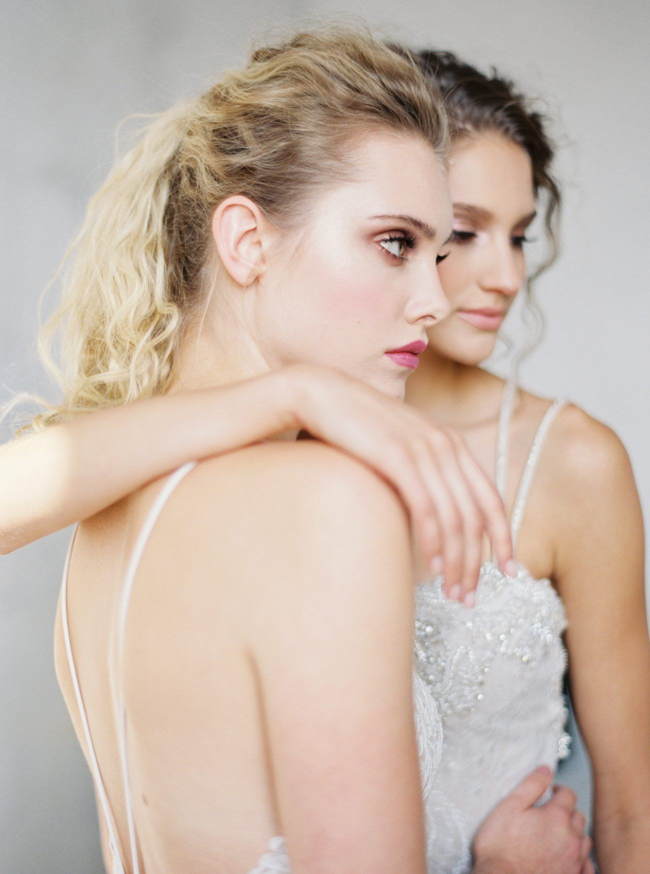 Modern Brides Beautifully Captured in Minimalist Bridal Shoot