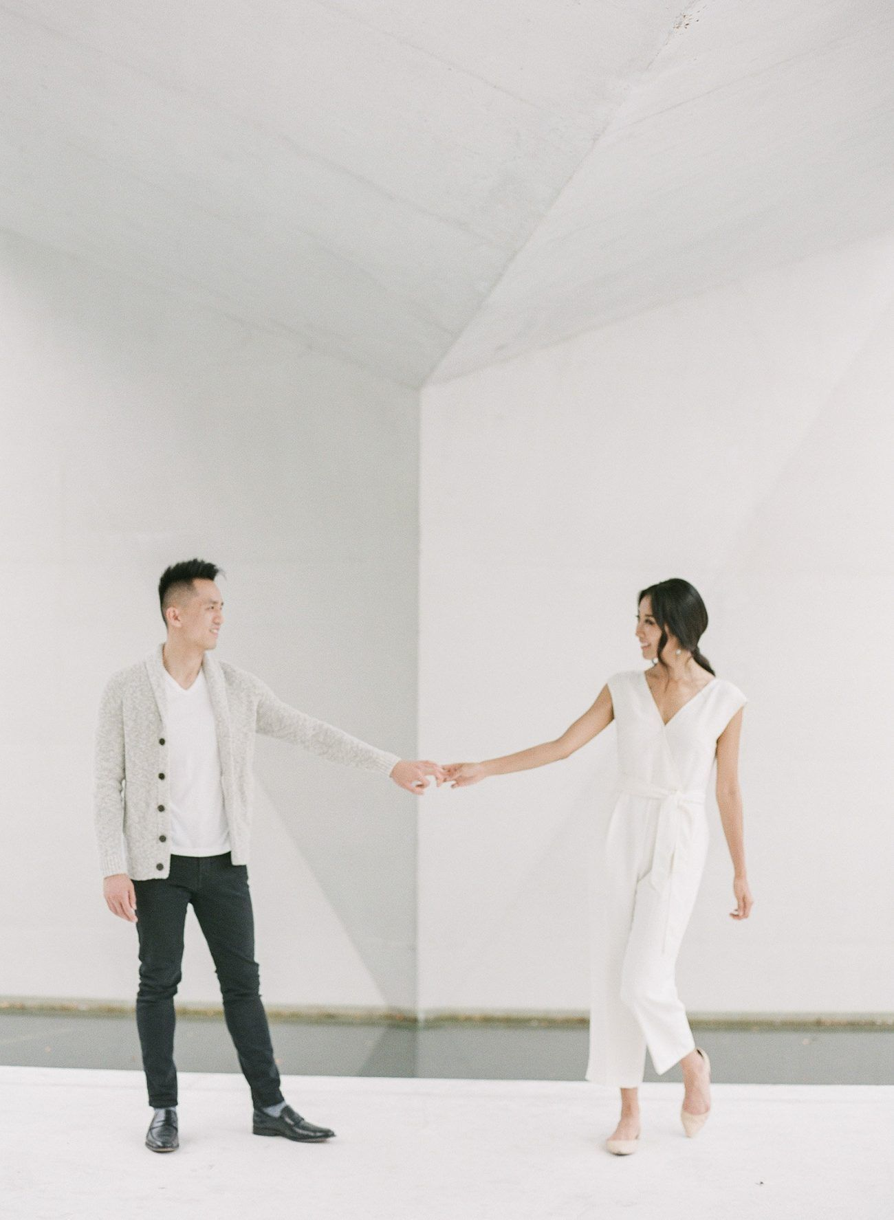 Modern and Romantic Looks For This University  Engagement Shoot