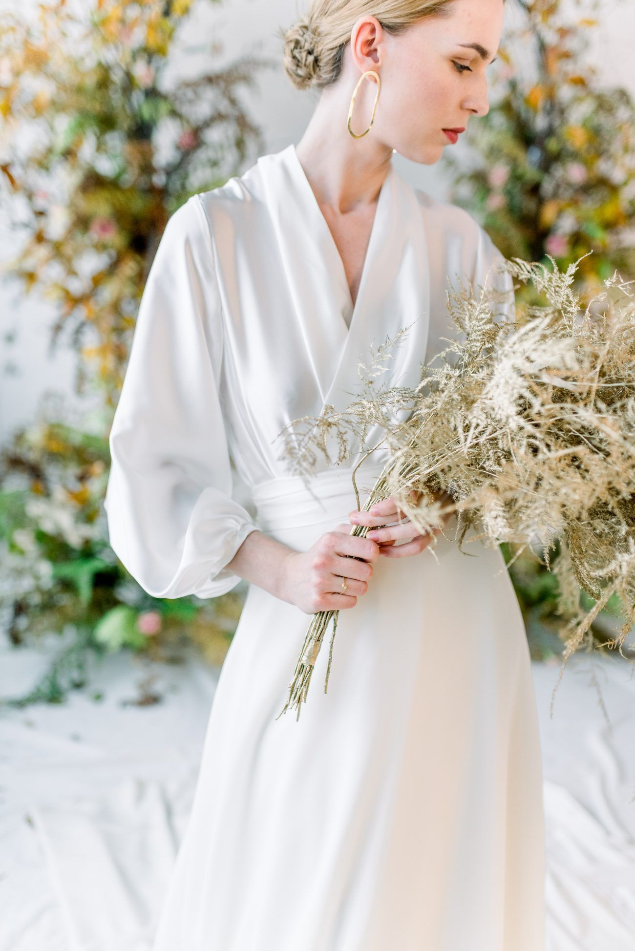 Romantic And Feminine Eco Friendly Bridal Editorial Styled With A