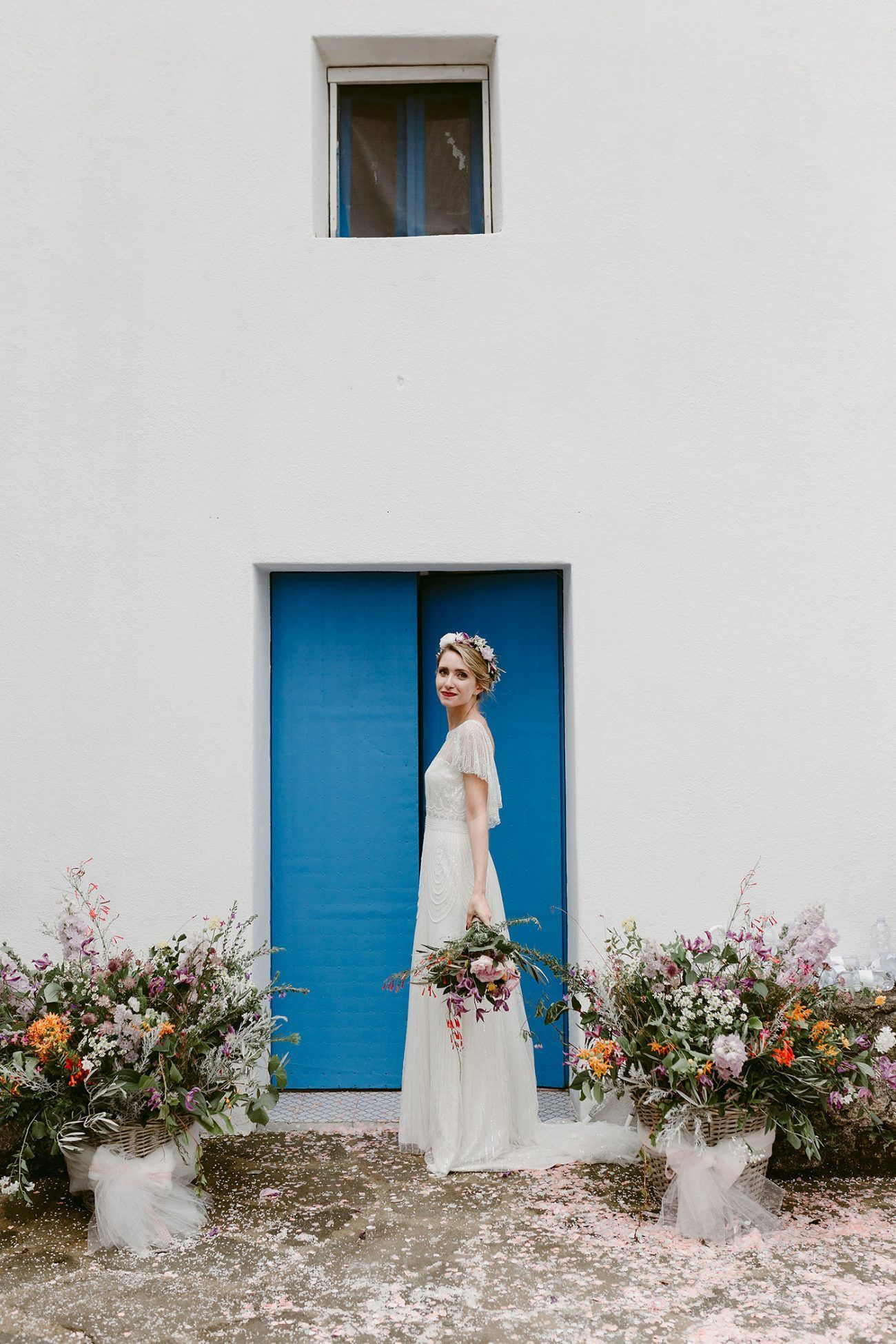 Eleanora and Marco's Intimate Sicilian Island Wedding Featured Blues and Greens that Complemented the Lush Island Lanscape